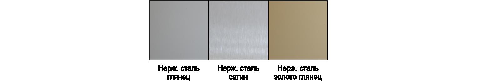 Цветовая палитра нержавеющей стали