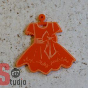 Брелок из акрила оранжевый