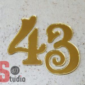Номерок на дверь 43